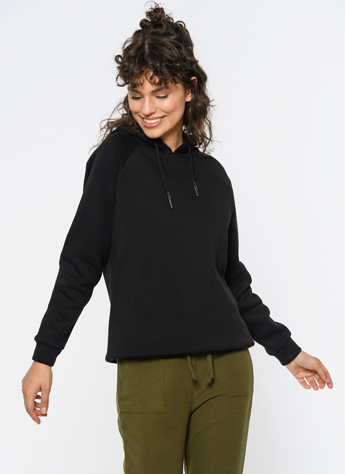 Loves You Kapüşonlu Loose Fit Şardonlu Sweatshirt